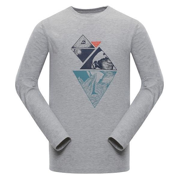 Šedé pánské funkční tričko Alpine Pro - velikost S