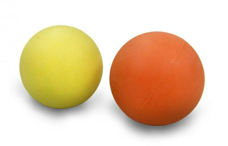 Žlutý hokejbalový míček Sedco - průměr 63 mm