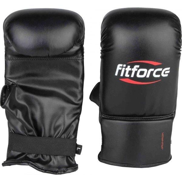 Černé boxerské rukavice Fitforce
