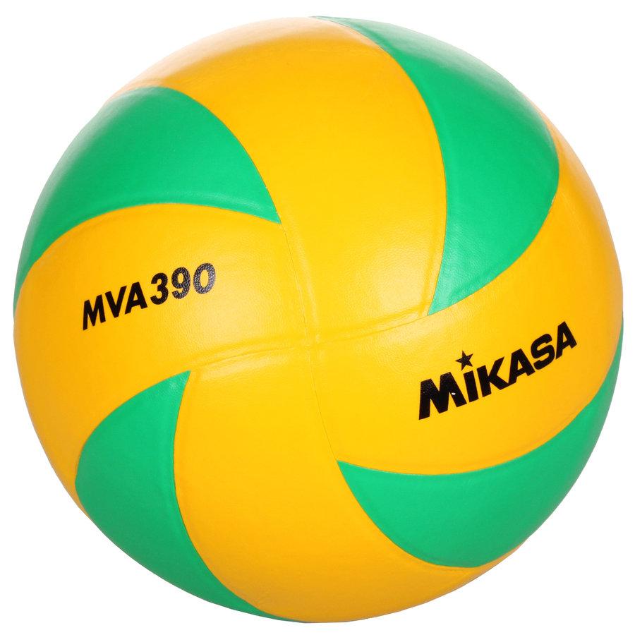 Zeleno-žlutý volejbalový míč MVA 390 CEV, Mikasa - velikost 5