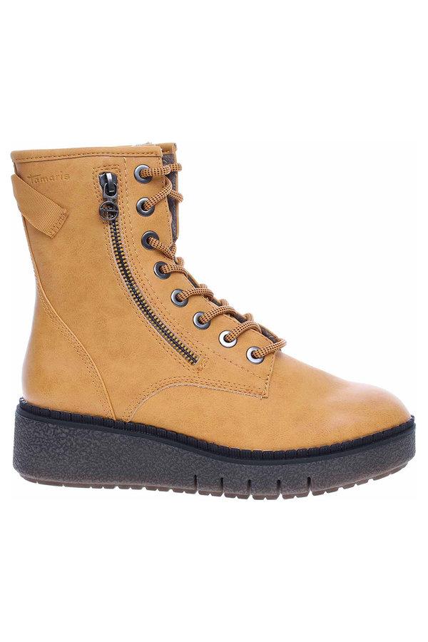 Žluté dámské zimní boty Tamaris