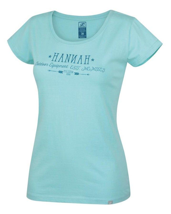 Modré dámské tričko s krátkým rukávem Hannah - velikost 34