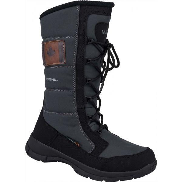 Černo-šedé dámské zimní boty Willard