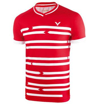 Červené pánské funkční tričko s krátkým rukávem Victor