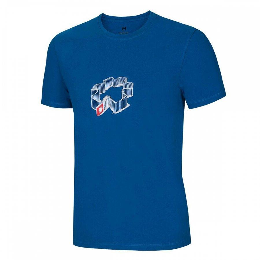Modré pánské turistické tričko s krátkým rukávem Ocún