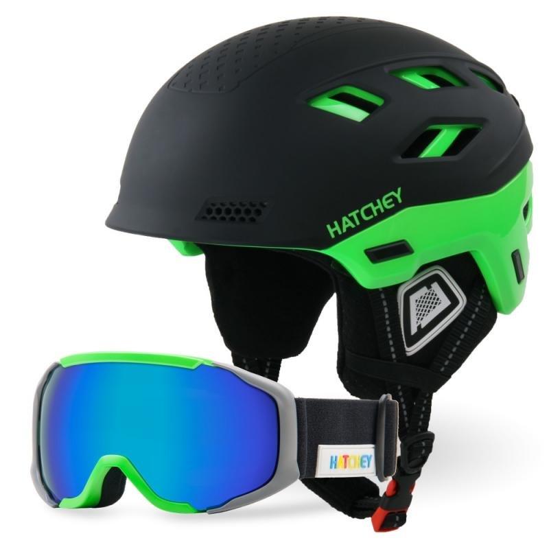 Černá dětská lyžařská helma Hatchey