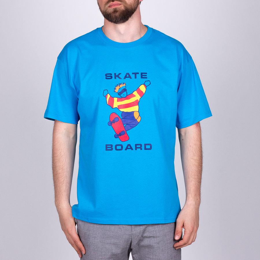 Modré pánské tričko s krátkým rukávem Polar - velikost L