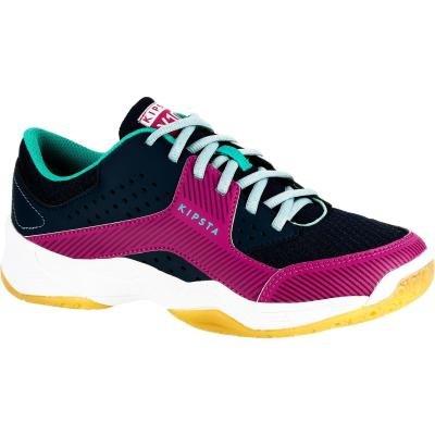 Fialovo-modré dětské dívčí boty na volejbal V100, ALLSIX