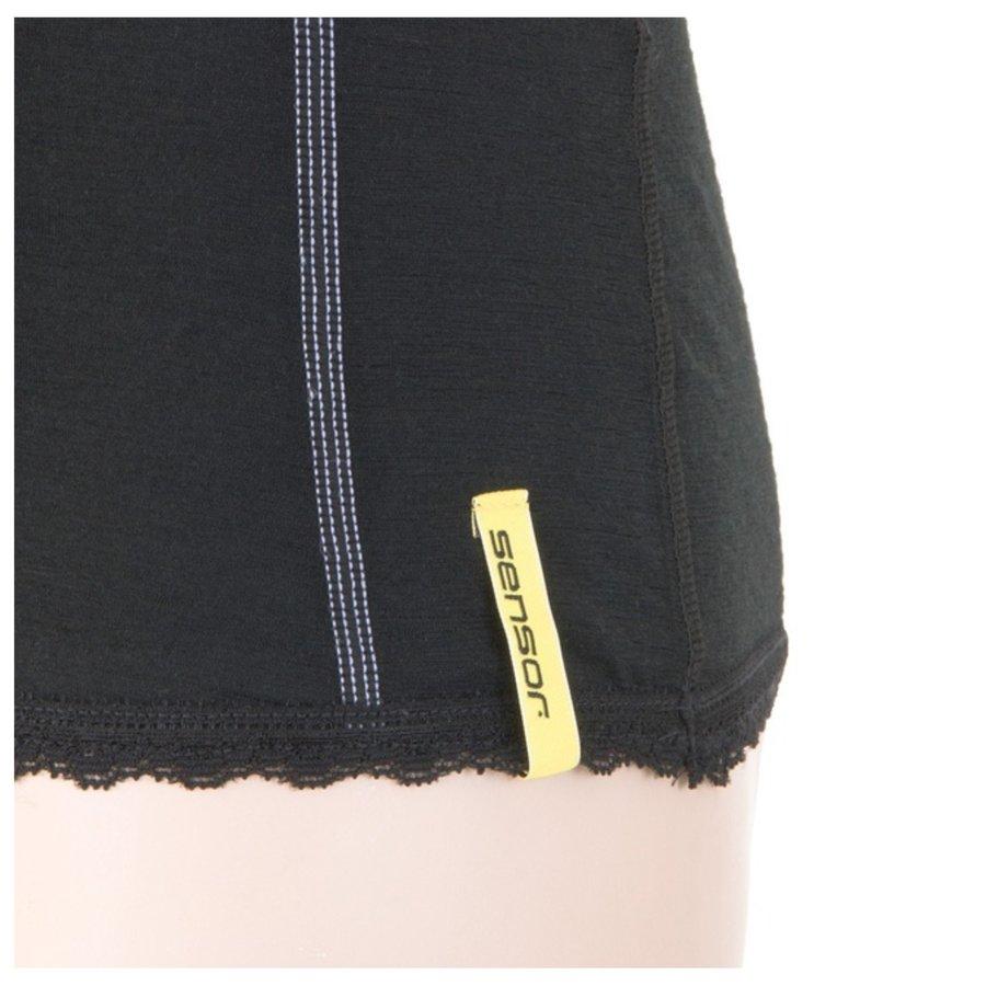 Černé dámské tričko s krátkým rukávem Sensor - velikost L
