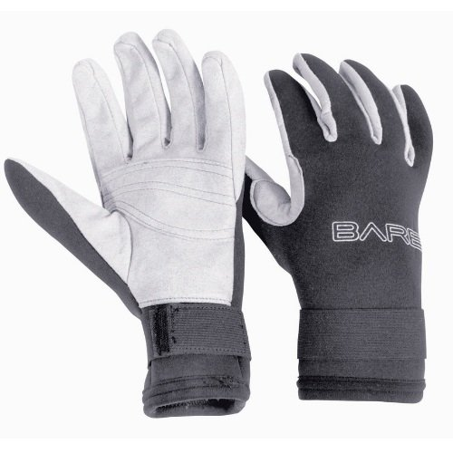 Bílo-černé neoprenové rukavice Bare