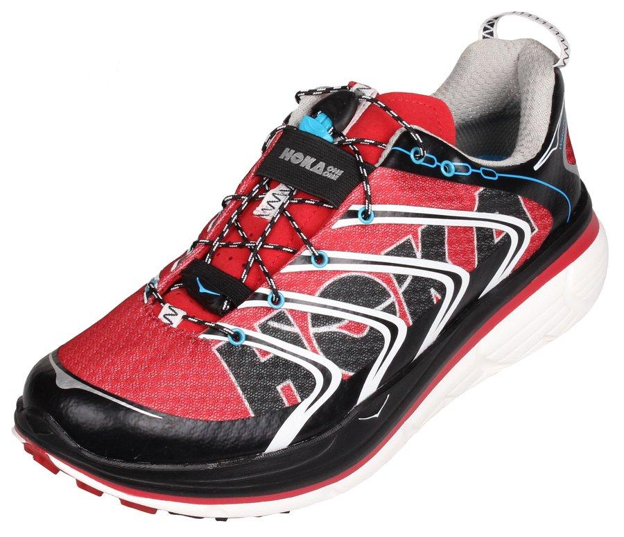 Červené pánské běžecké boty - obuv Rapa Nui, Hoka One One - velikost 44 EU