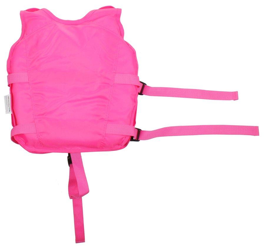 Růžová polyesterová dětská plavecká vesta Waimea - velikost 3-6 let