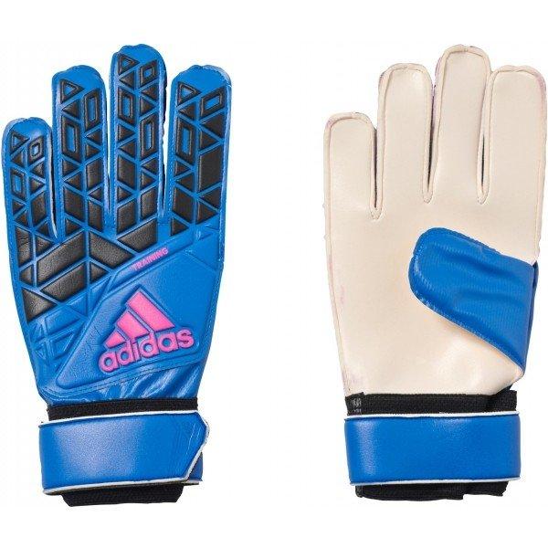 Modré pánské brankářské fotbalové rukavice Adidas