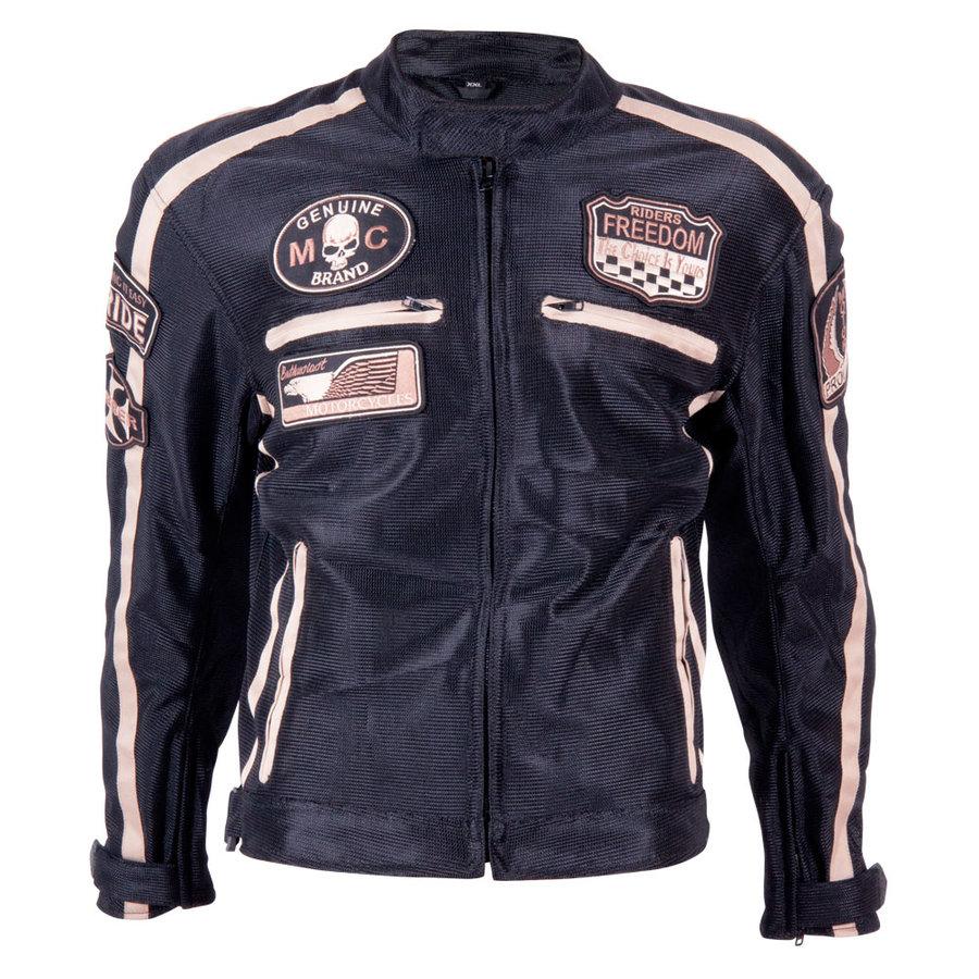 Černá pánská motorkářská bunda 6488, BOS