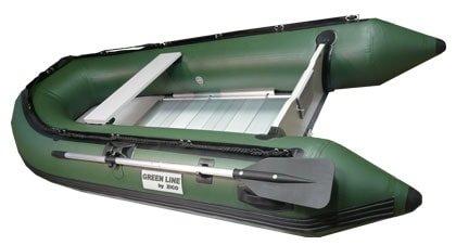 Zelený nafukovací člun pro 4 osoby ZICO