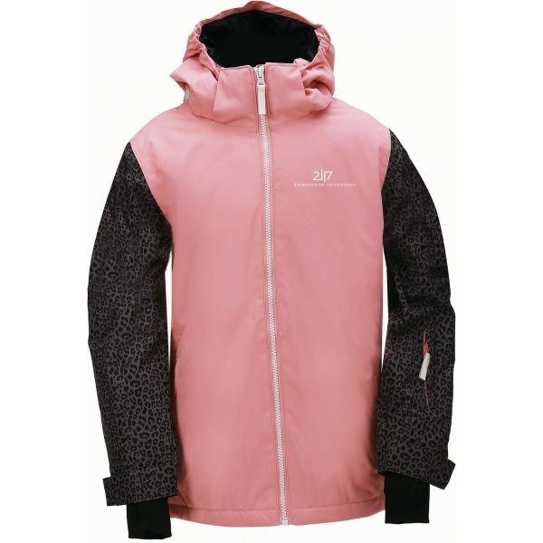 Černo-růžová dívčí lyžařská bunda 2117 of Sweden