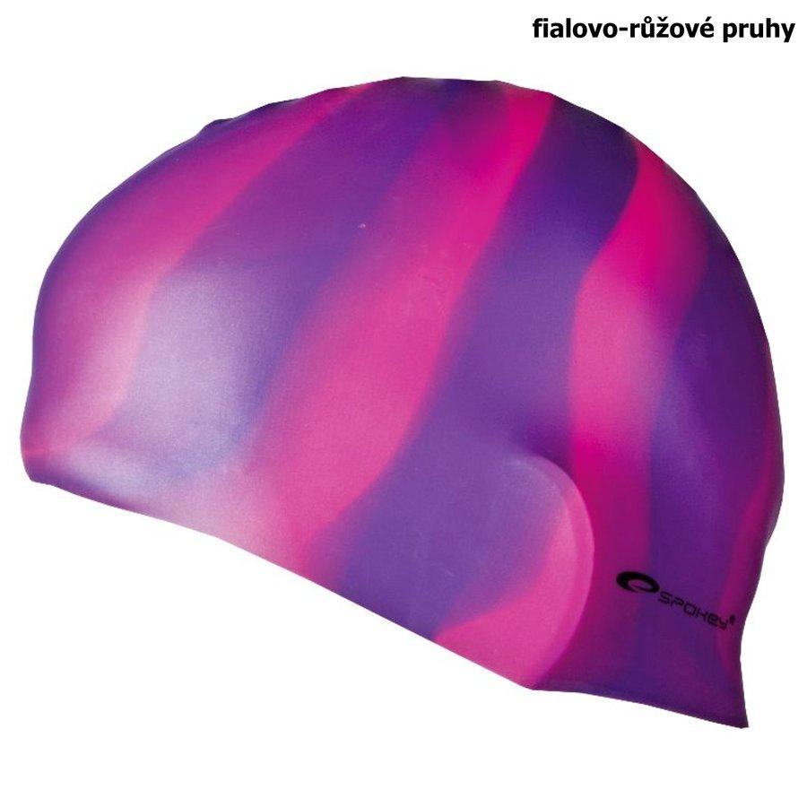 Růžová pánská nebo dámská plavecká čepice ABSTRACT, Spokey