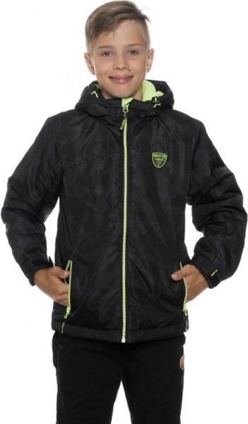 Černá zimní chlapecká bunda s kapucí Sam 73