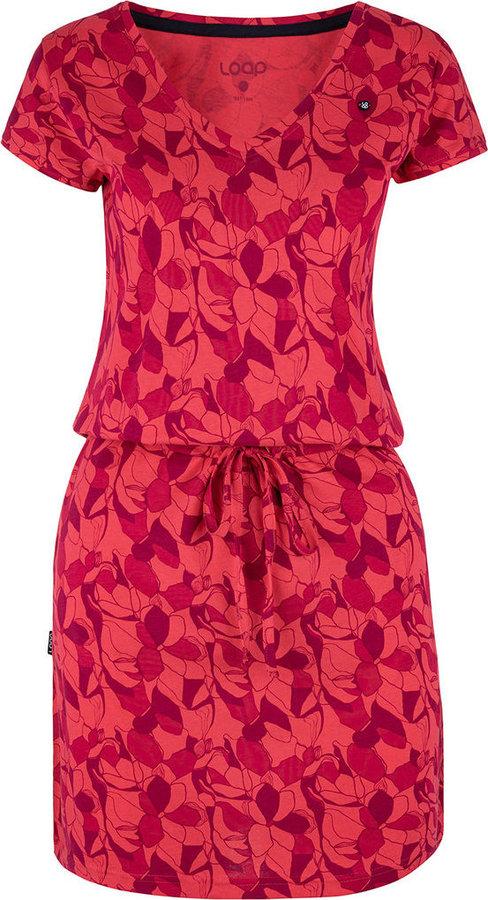 Růžové dámské šaty Loap - velikost M