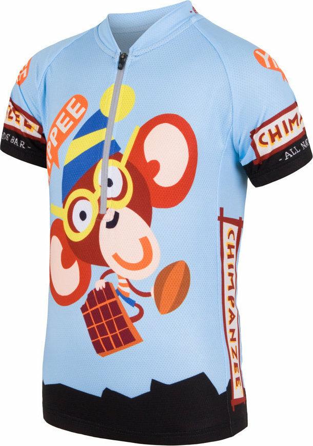 Modrý dětský cyklistický dres Sensor - velikost 150