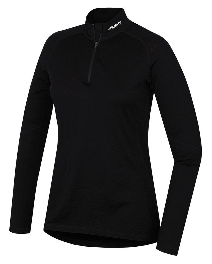 Černé dámské termo tričko s dlouhým rukávem Husky - velikost L