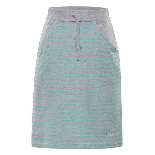 Šedo-zelená dámská sukně Alpine Pro - velikost XS