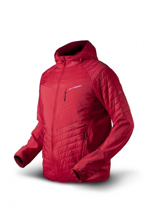 Červená zimní pánská bunda s kapucí Trimm