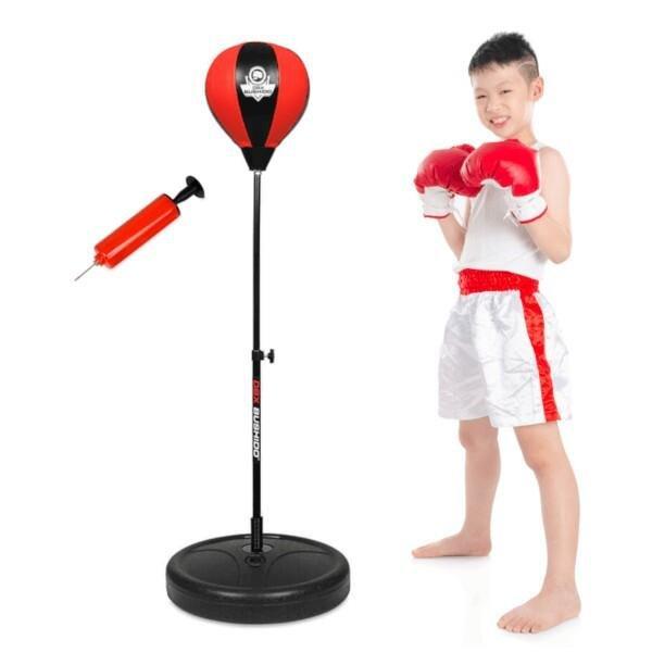 Černo-červená stojící boxovací hruška BUSHIDO
