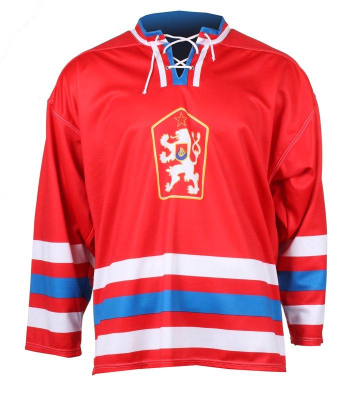 Červený unisex hokejový dres Replika ČSSR 1976, Merco