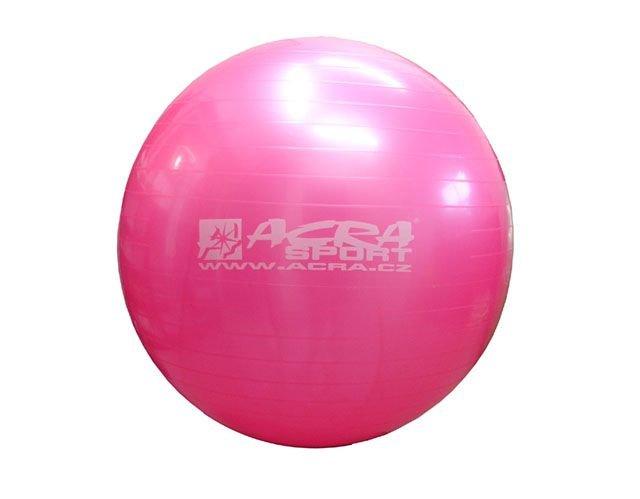 Růžový gymnastický míč CorbySport - průměr 65 cm