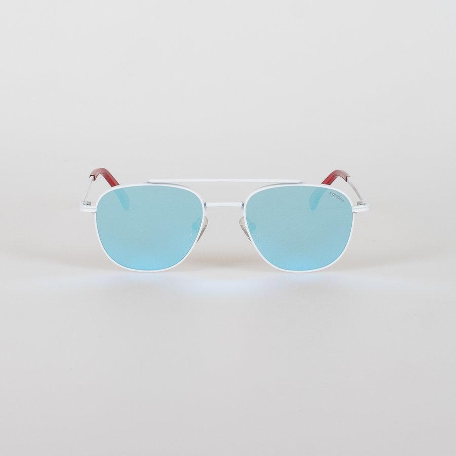 Bílá polarizační unisex sluneční brýle Crafted Alex, Komono