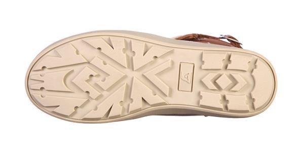 Hnědo-žluté dámské zimní boty Alpine Pro