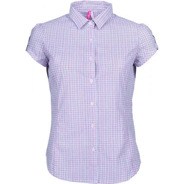 Růžová dámská košile s krátkým rukávem Willard