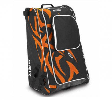 Černo-oranžová taška na hokejovou výstroj - junior Grit