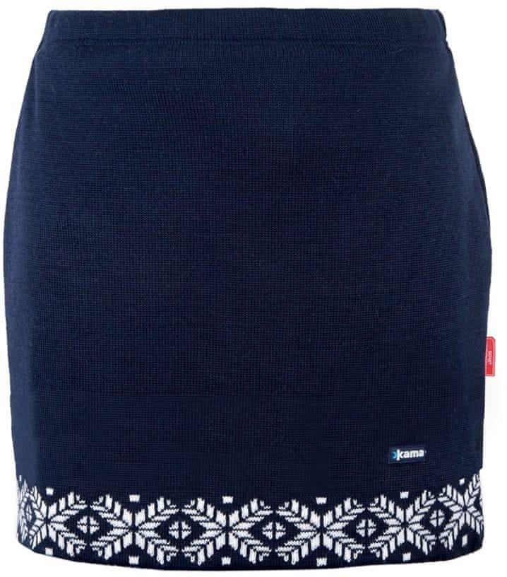Modrá dámská sukně na běžky Kama - velikost S
