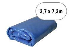 Modrá solární plachta na bazén - délka 730 cm a šířka 370 cm