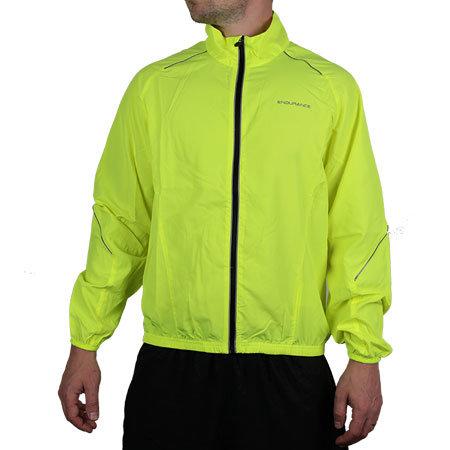 Běžecká bunda - Běžecká bunda Endurance Bernie neonově žlutá XL