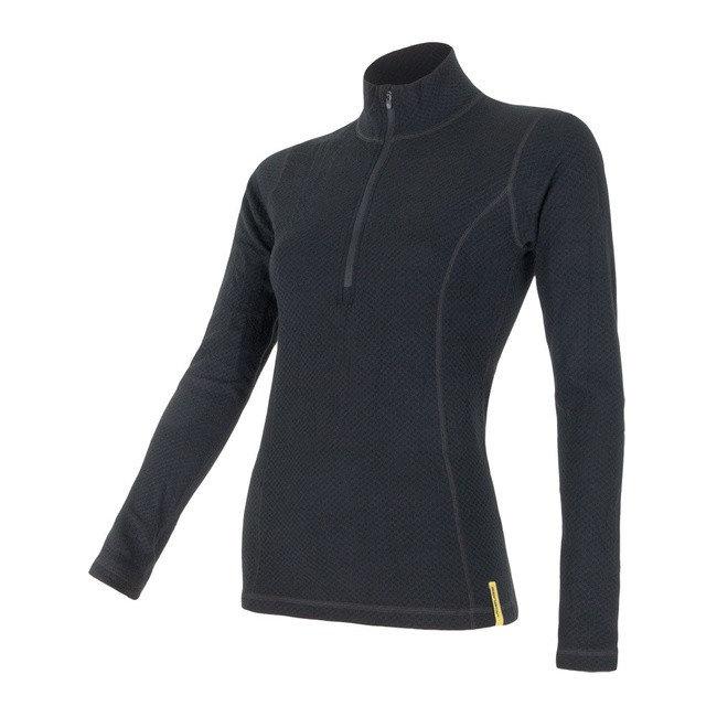 Černé dámské tričko s dlouhým rukávem Sensor - velikost XL