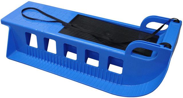 Modré plastové sáňky Kamzík, Acra