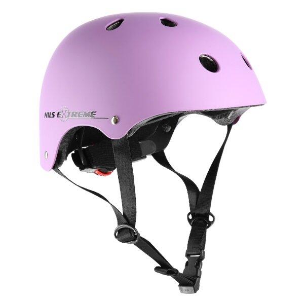 Růžová cyklistická helma