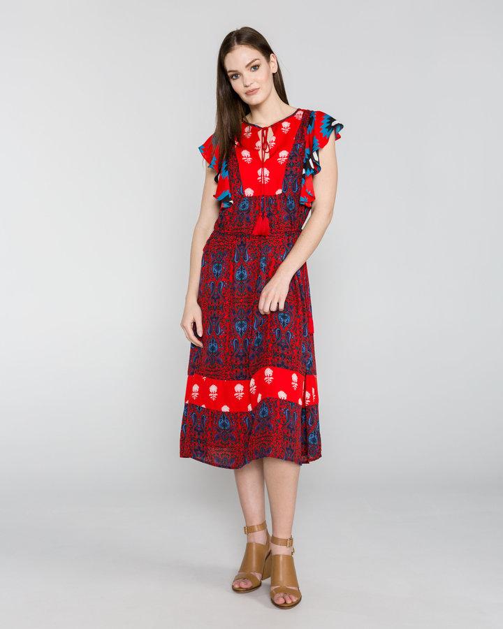 Červené dámské šaty Desigual
