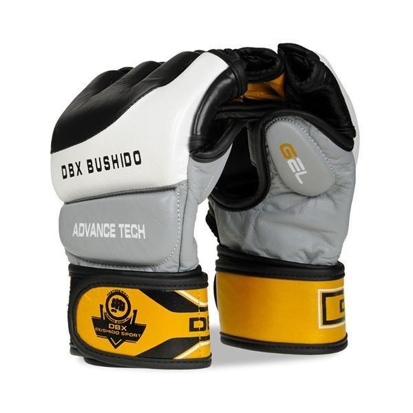 Šedo-žluté MMA rukavice Bushido