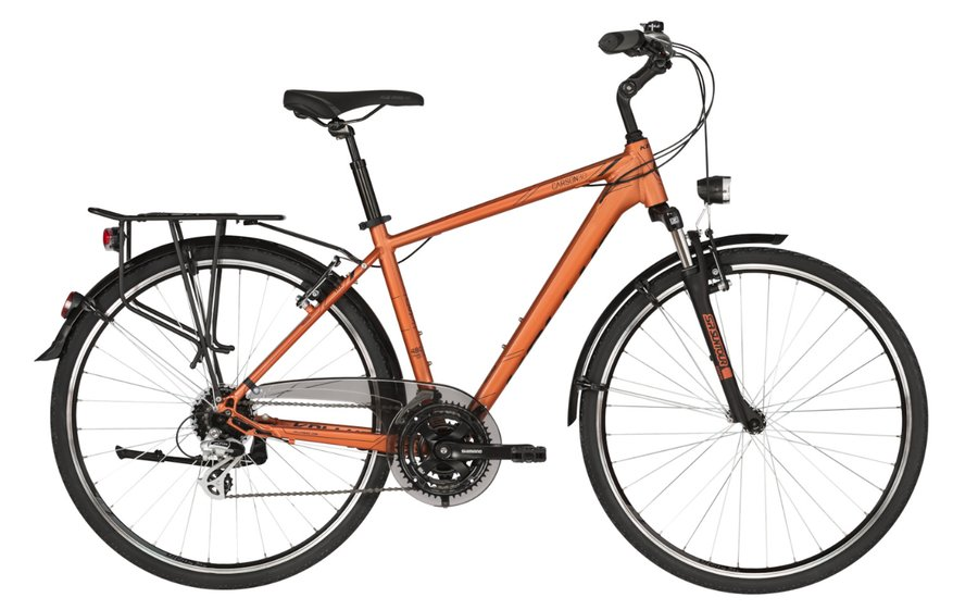 Oranžové trekingové pánské kolo Kellys