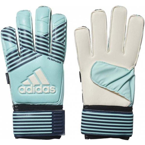Bílo-modré pánské brankářské fotbalové rukavice Adidas