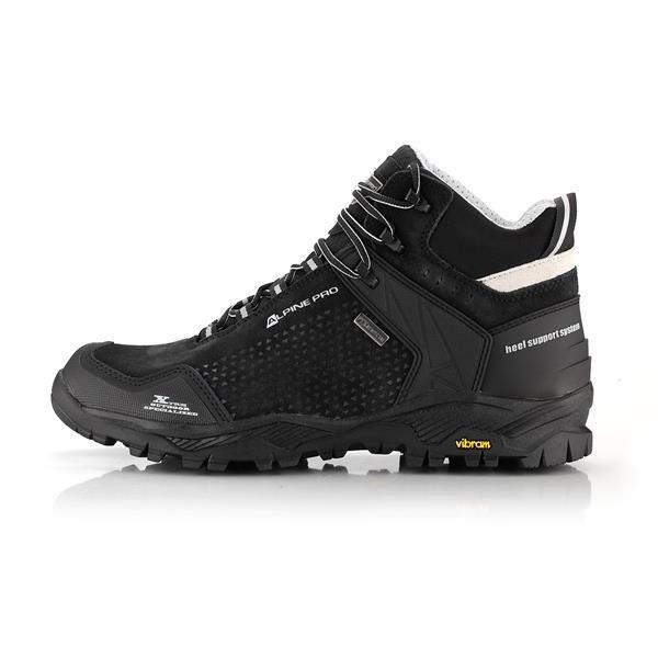 Černé nepromokavé trekové boty Alpine Pro - velikost 46 EU