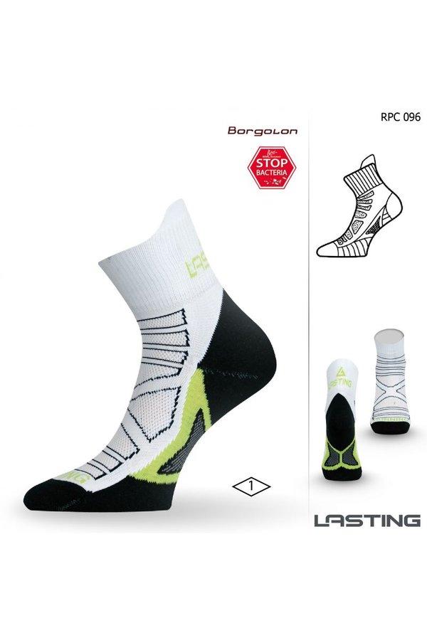Bílé pánské běžecké ponožky Lasting - velikost 46-49 EU