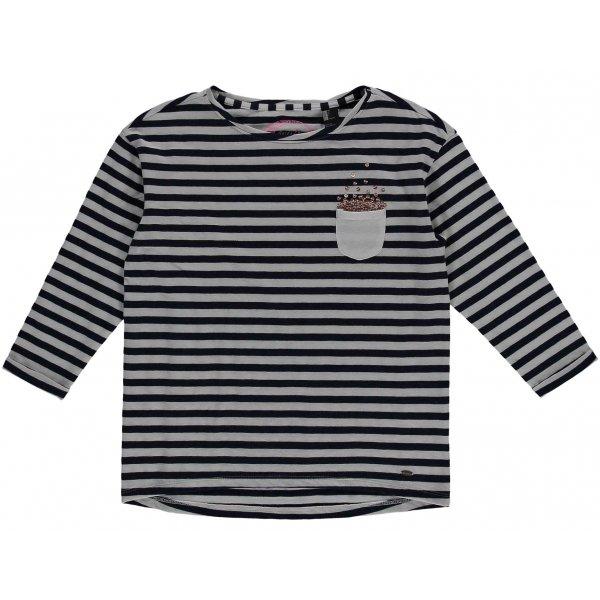 Černo-šedé dívčí tričko s dlouhým rukávem O'Neill - velikost 128