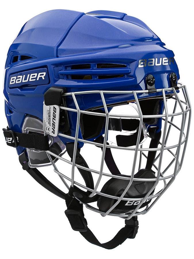 Hokejová helma - Helma Bauer RE-AKT 100 Combo Yth modrá