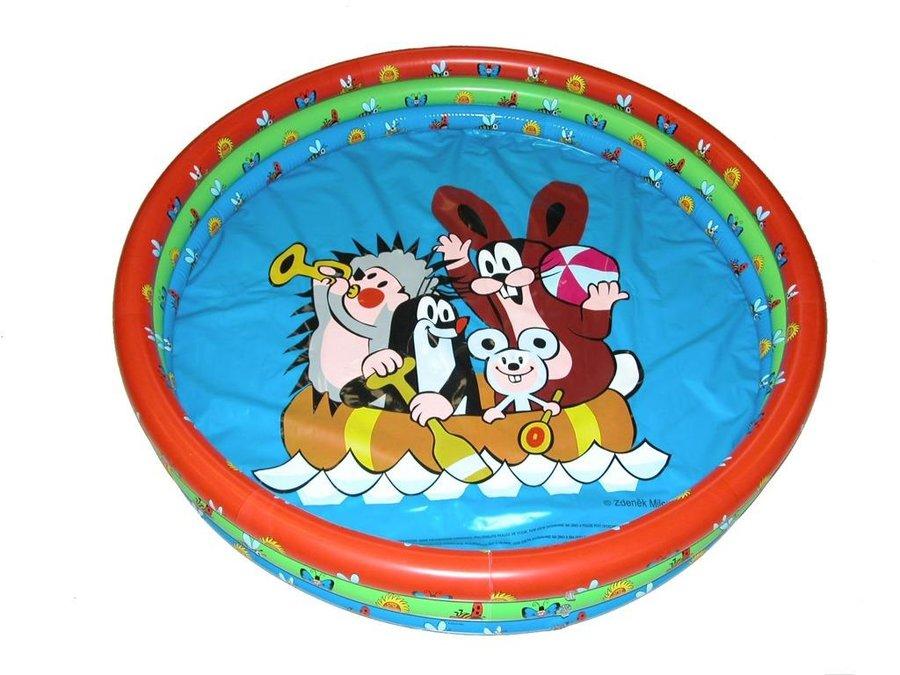 Nadzemní nafukovací dětský kruhový bazén - průměr 102 cm a výška 25 cm