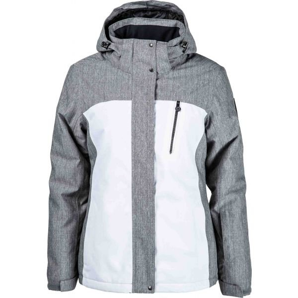 Bílo-šedá dámská lyžařská bunda Willard